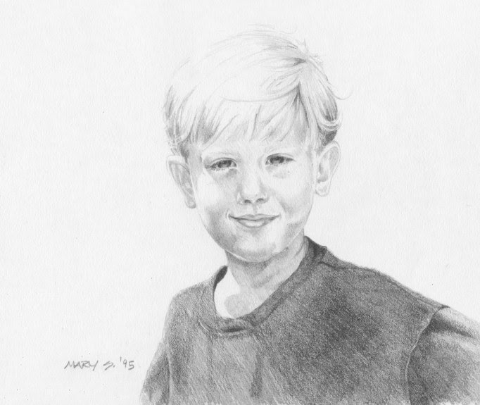 pencil, graphite, drawing, portrait, boy, detailed