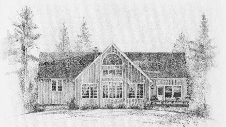 pencil, graphite, drawing, portrait, cottage, detailed