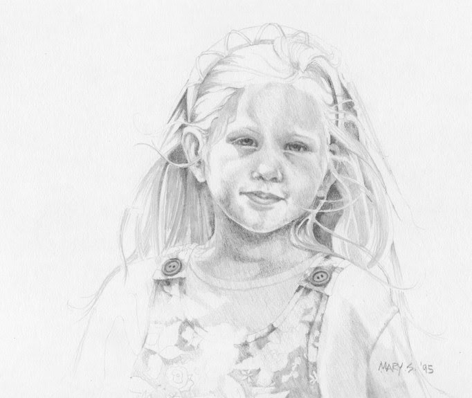 pencil, graphite, drawing, portrait, girl, detailed
