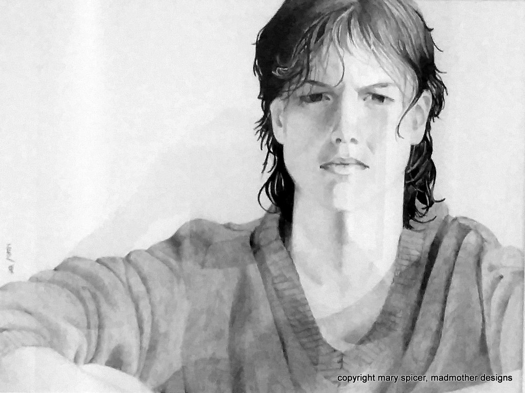 pencil drawing, portrait, girl, detailed, realistic